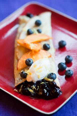 Honey-Blueberry Spelt Crepes